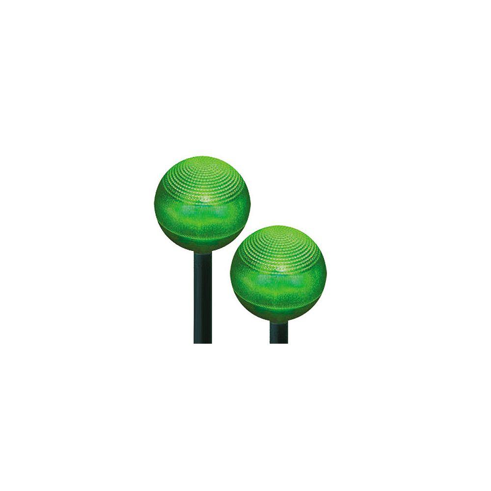 HomeBrite Solar Jeu de 2 lampes solaires en forme de dôme en plastique à ampoule DEL verte