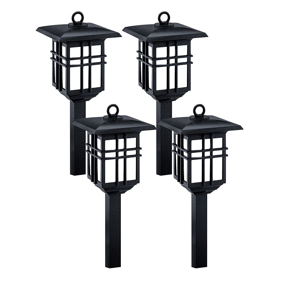 Malibu Black Low Voltage Led Light Set Which Includes 4 Fixtures The Home Depot Canada