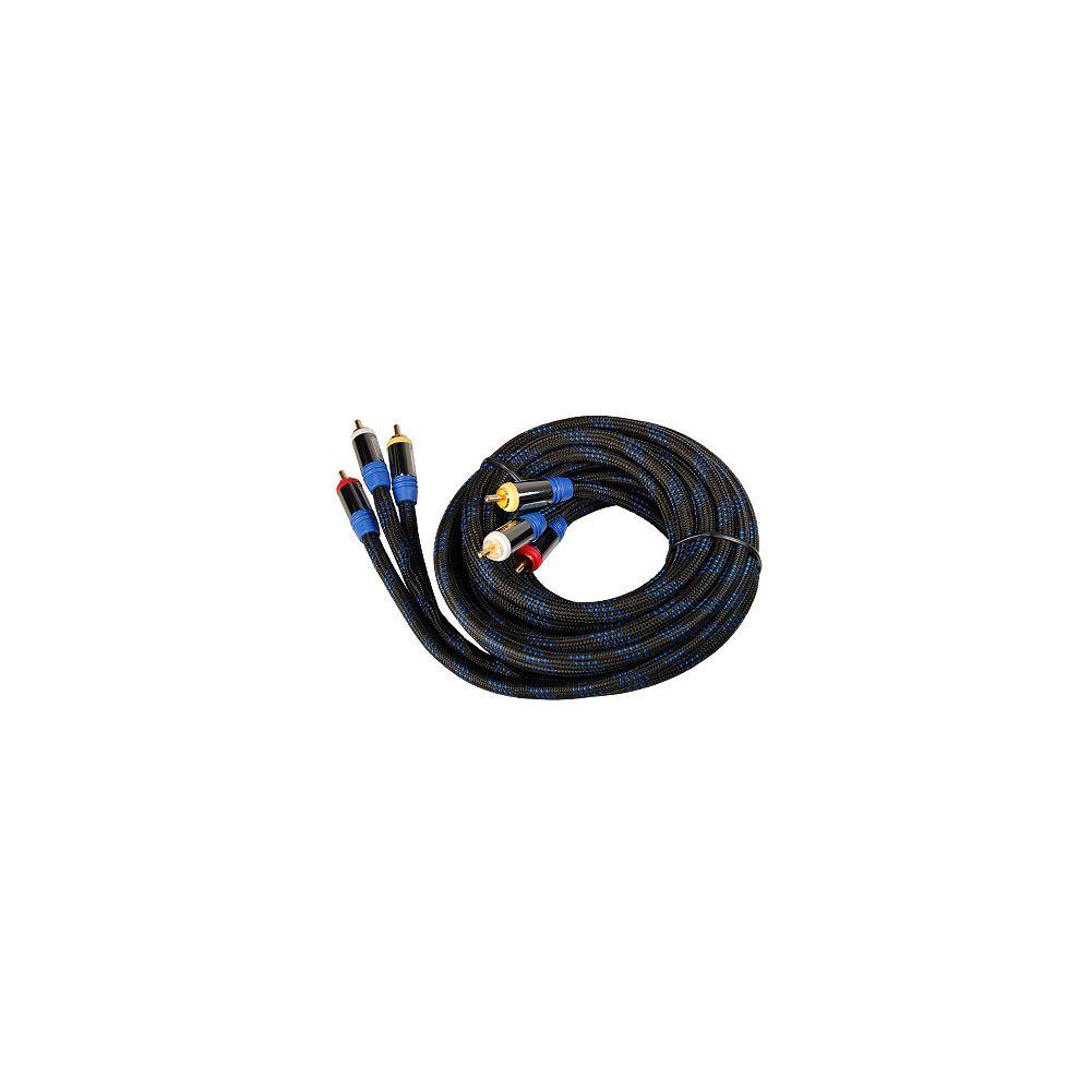 Platinum Link Câble vidéo RCA + audio stéréo de haut rendement - 2 mètres