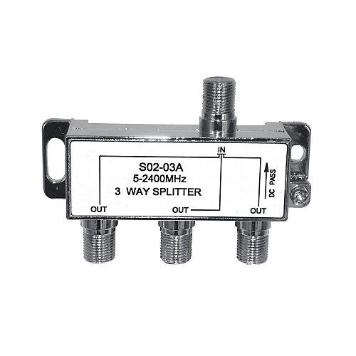 3-Way Digital Combiner /Separator Power Pass 1 Port