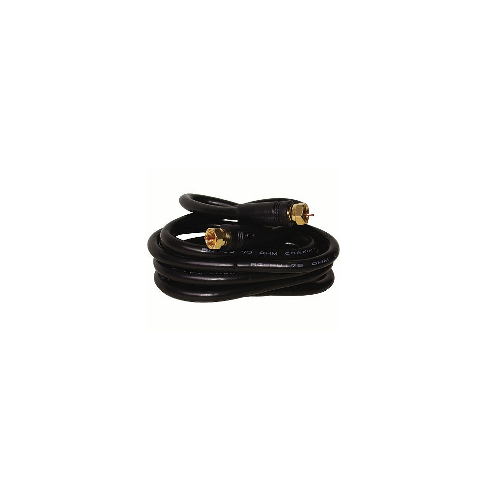 OMEGA Câble coaxial RG6 - 2 mètres - Noir