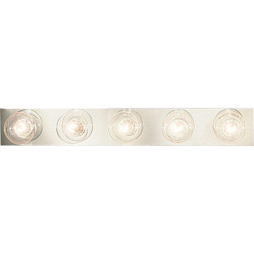 Progress Lighting Broadway Collection Chrome 5-light Wall Bracket