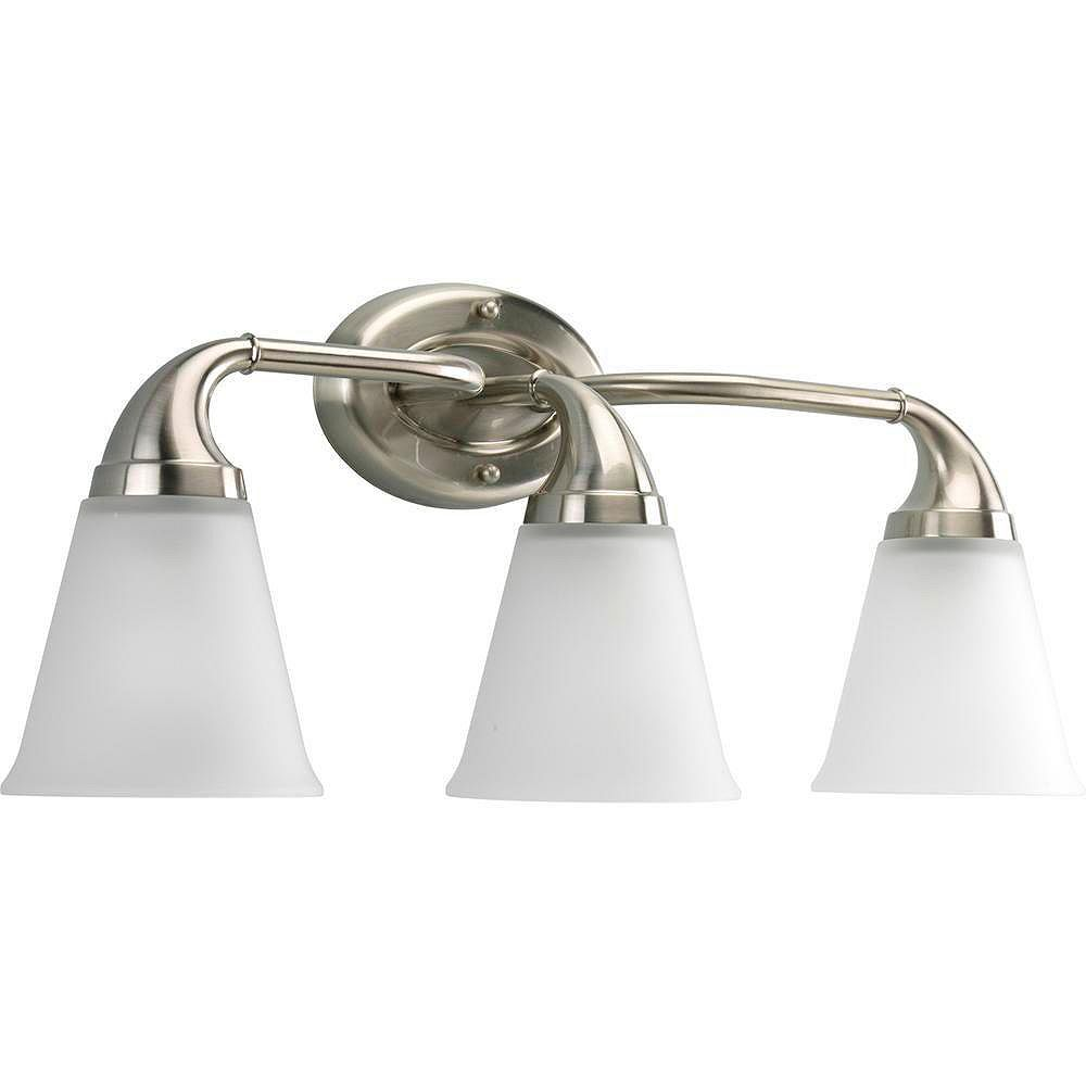 Progress Lighting Lahara Collection Brushed Nickel 3-light Wall Bracket