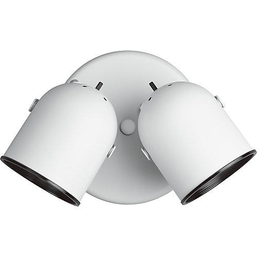 White 2-light Spotlight Fixture
