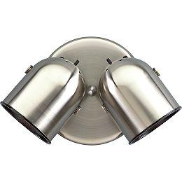 Brushed Nickel 2-light Spotlight Fixture