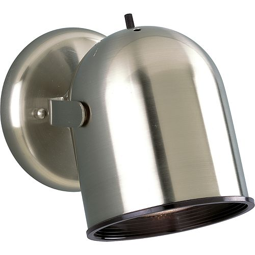 Brushed Nickel 1-light Spotlight Fixture