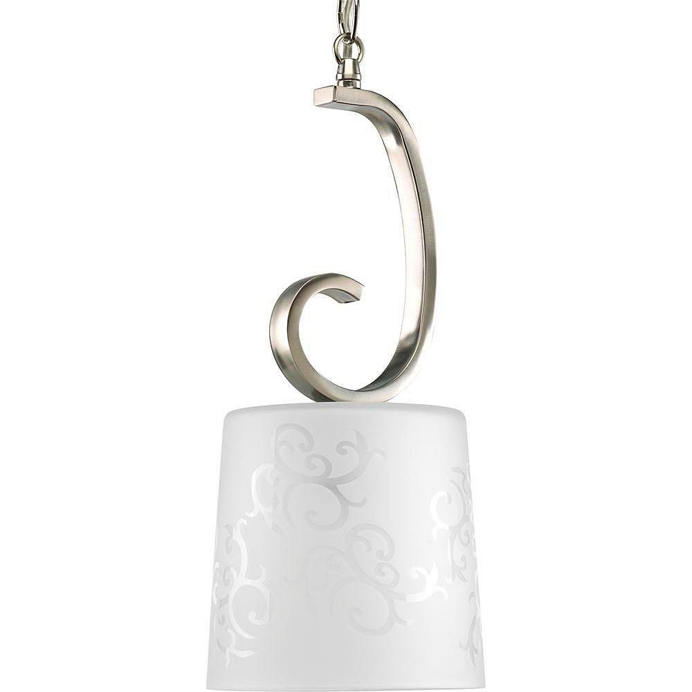 Progress Lighting Nicollette Collection Brushed Nickel 1-light Mini-Pendant