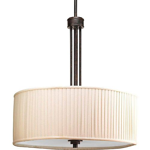Progress Lighting Clayton Collection Espresso 3-light Foyer Pendant