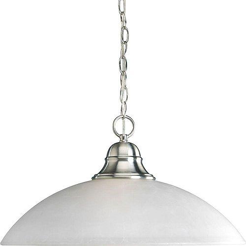 Progress Lighting Suspension à 1 Lumière, Collection Pavilion - fini Nickel Brossé