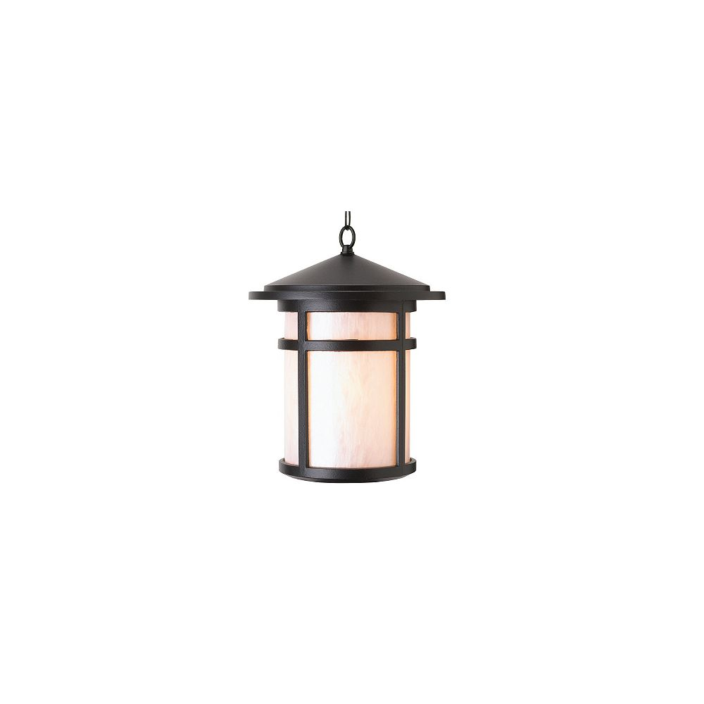 Snoc Residence Series, Black with Pearled Acrylic Diffuser, Suspended Chain Mount