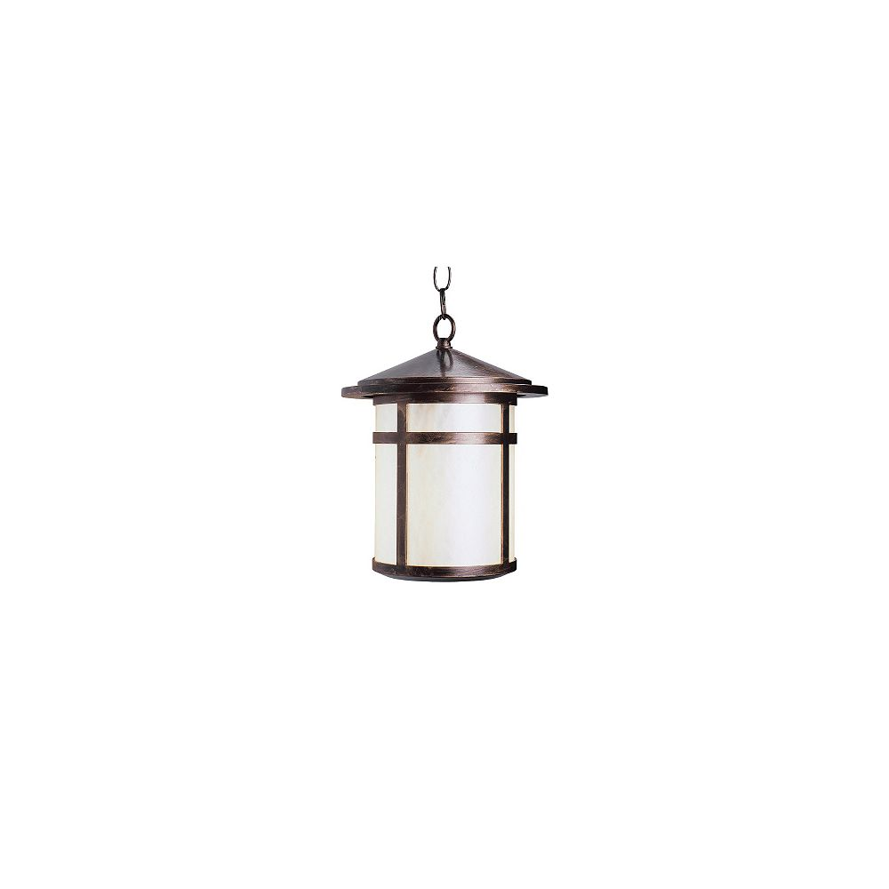 Snoc Residence Series, Antique Copper with Pearled Acrylic Diffuser, Suspended Chain Mount
