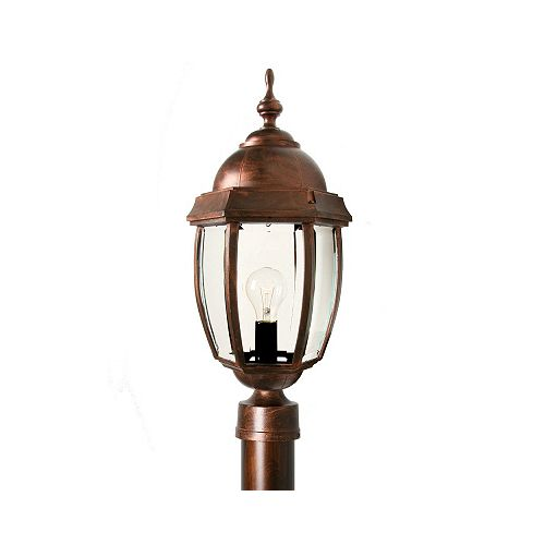 Luminaire avecglobe clair bullé, collection Vintage III, cuivre ant.