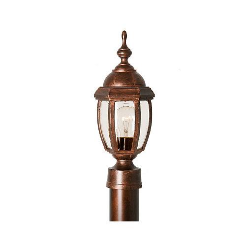 Luminaire, panneaux de verre clair aux contours biseautés, col. Vintage III petit, cuivre antique