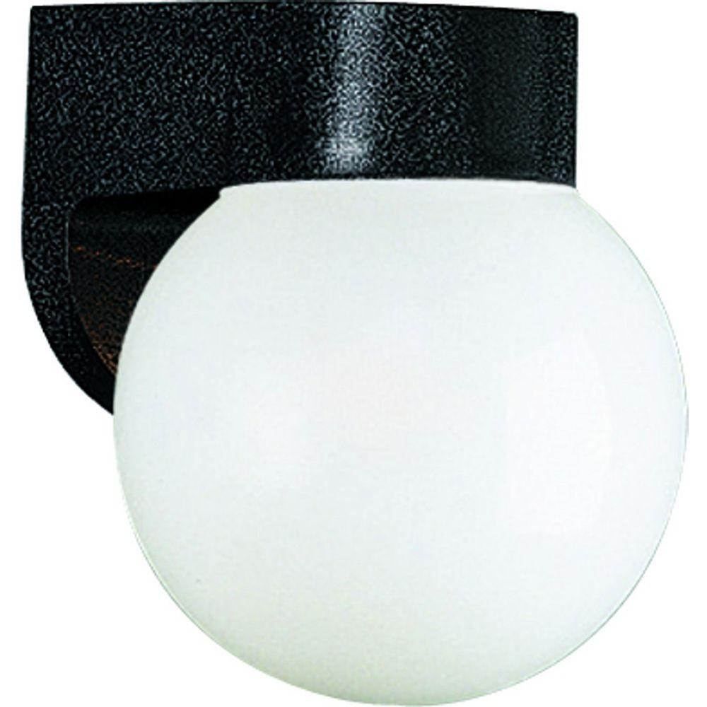 Progress Lighting Black 1-light Wall Lantern