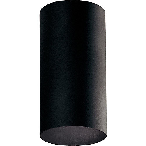 Black 1-light Outdoor Flushmount