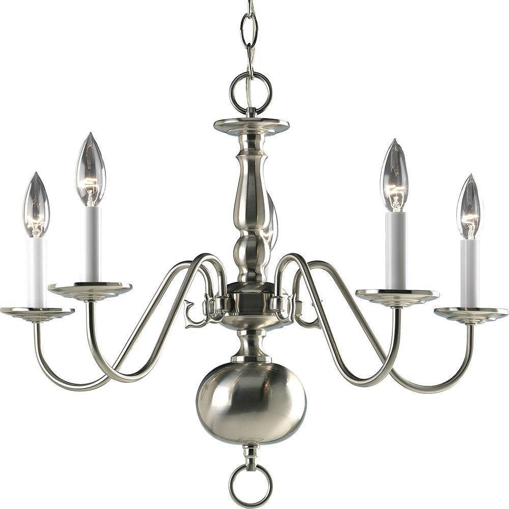 Progress Lighting Americana Collection Brushed Nickel 5-light Chandelier
