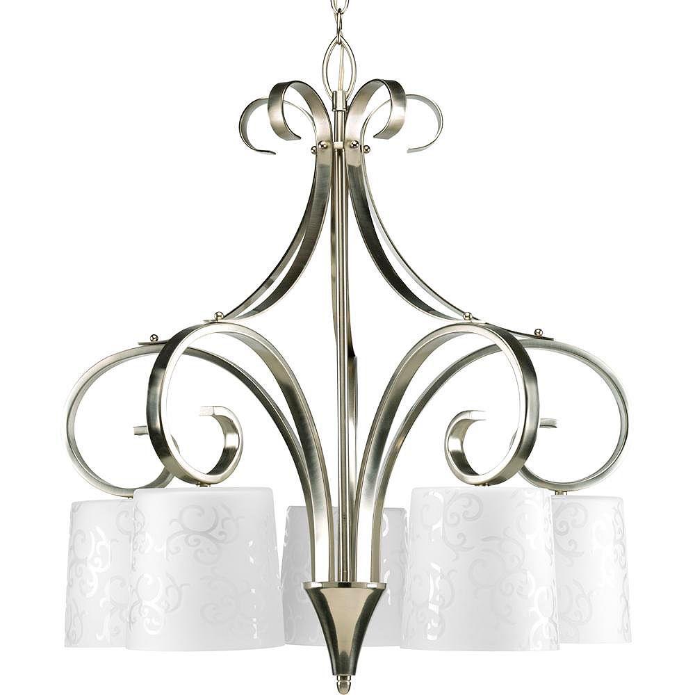 Progress Lighting Nicollette Collection Brushed Nickel 5-light Chandelier