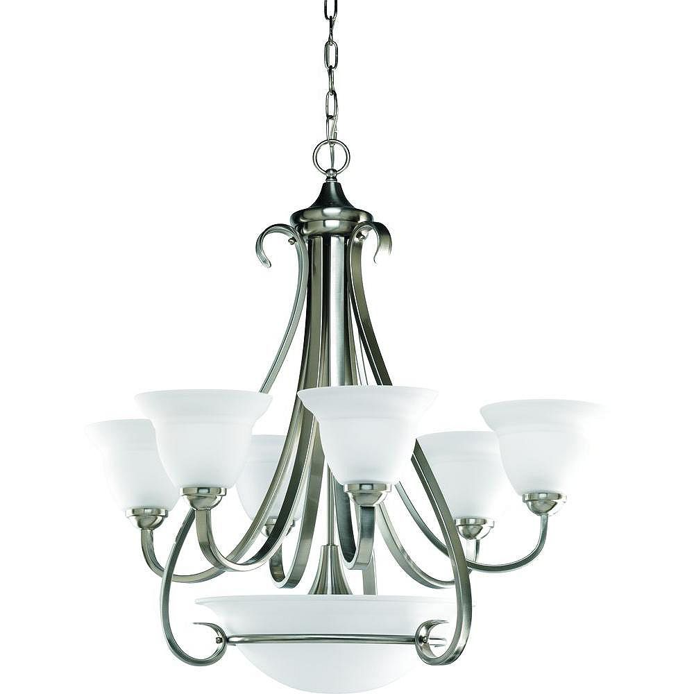 Progress Lighting Torino Collection Brushed Nickel 6-light Chandelier