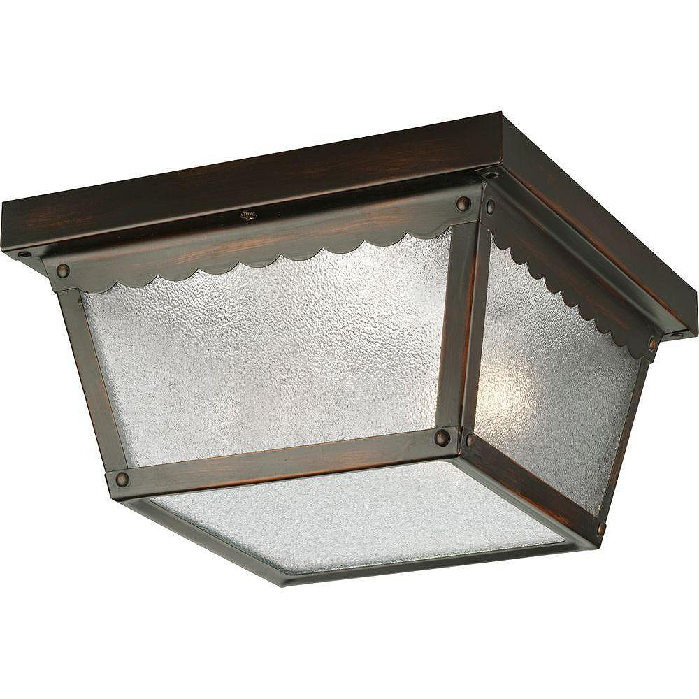 Progress Lighting Antique Bronze 2-light Outdoor Flushmount