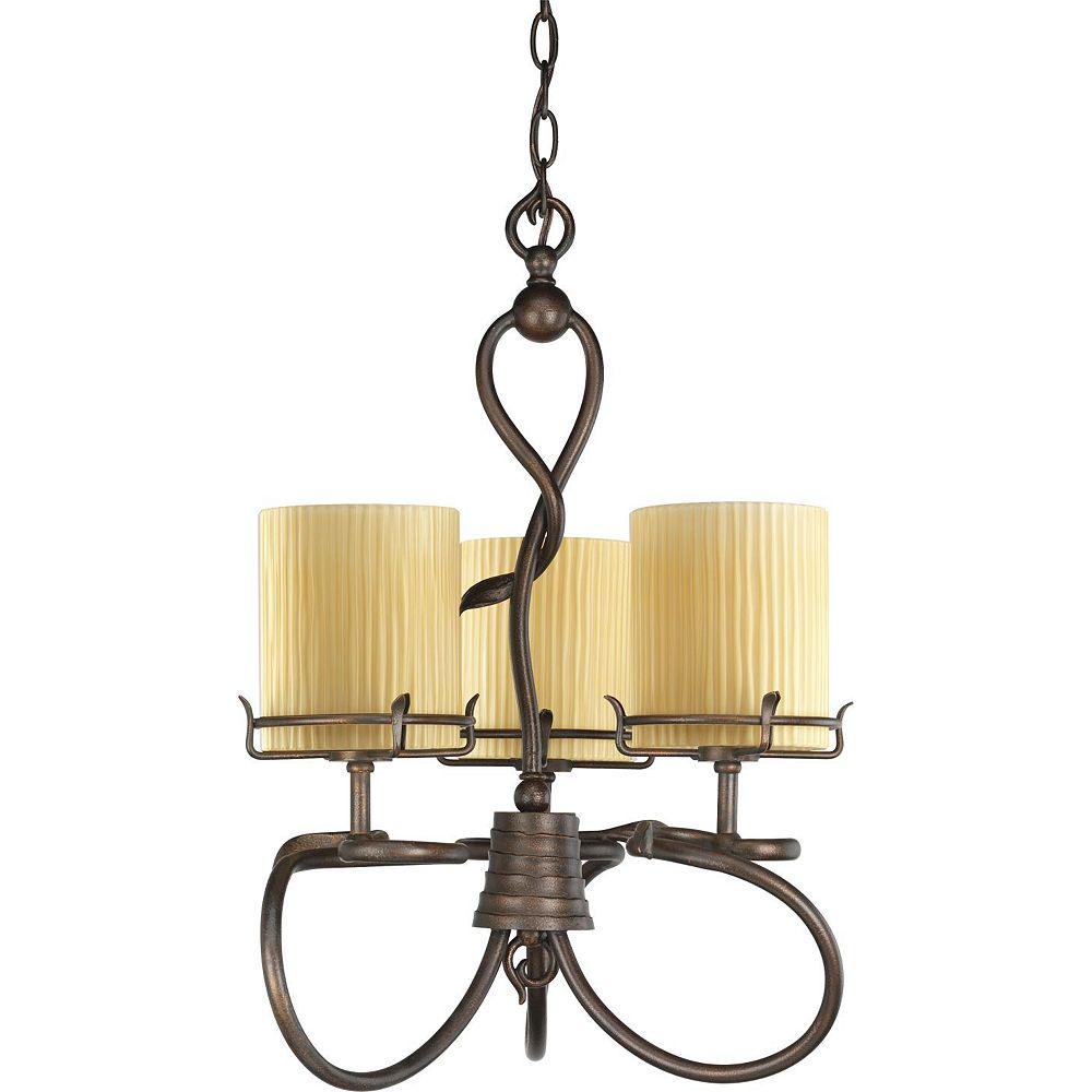 Thomasville Lighting Willow Creek Collection Weathered Auburn 3-light Chandelier