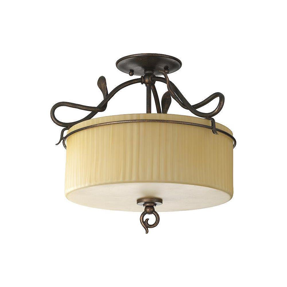 Thomasville Lighting Willow Creek Collection Weathered Auburn 2-light Semi-flushmount
