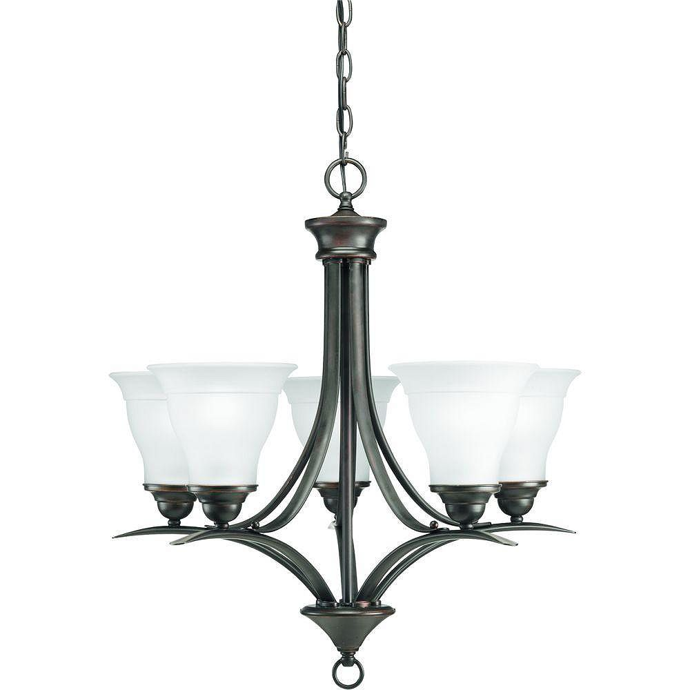 Progress Lighting Trinity Collection Antique Bronze 5 Light Chandelier The Home Depot Canada