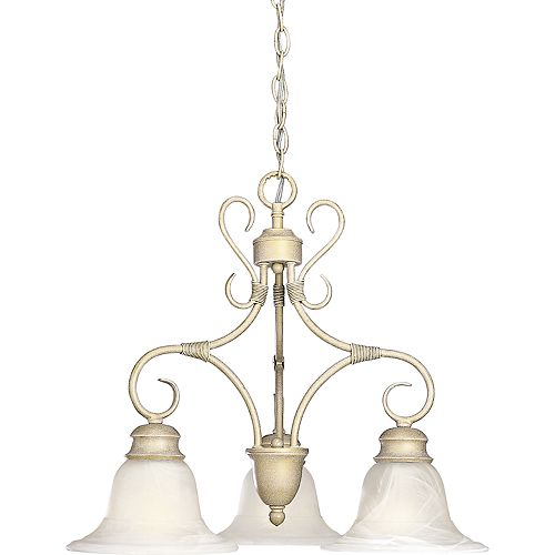 Masira Collection Venetian Gold 3-light Chandelier