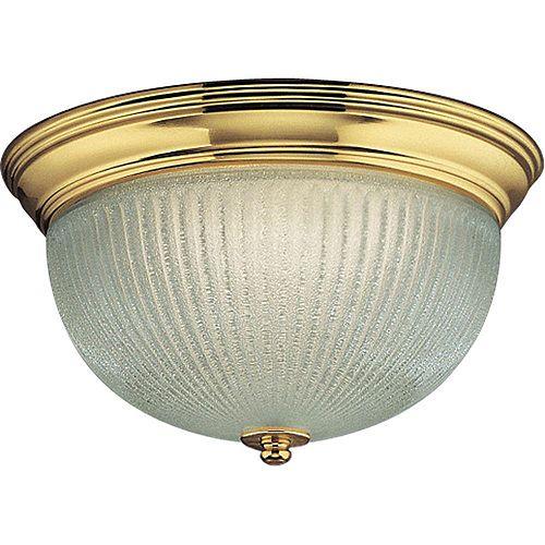 Polished Brass 2-light Fluorescent Fixture