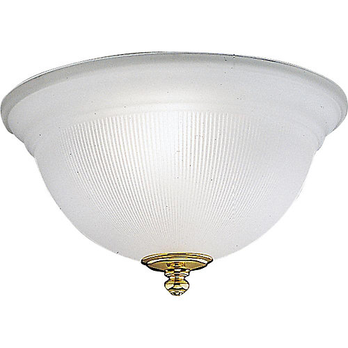Polished Brass 2-light Fluorescent Fixture