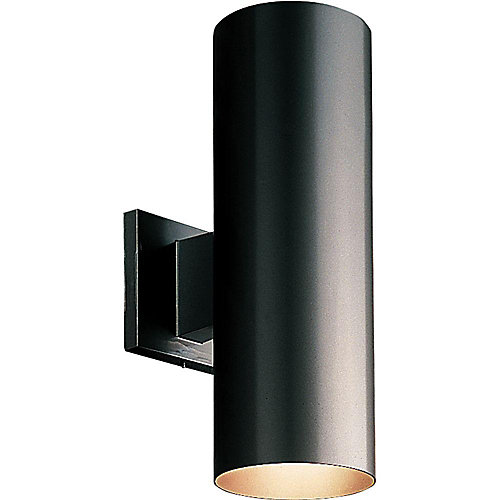75W 2-Light Black Up and Down Outdoor Wall Light