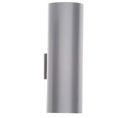 2-Light Metallic Grey Outdoor Wall Lantern