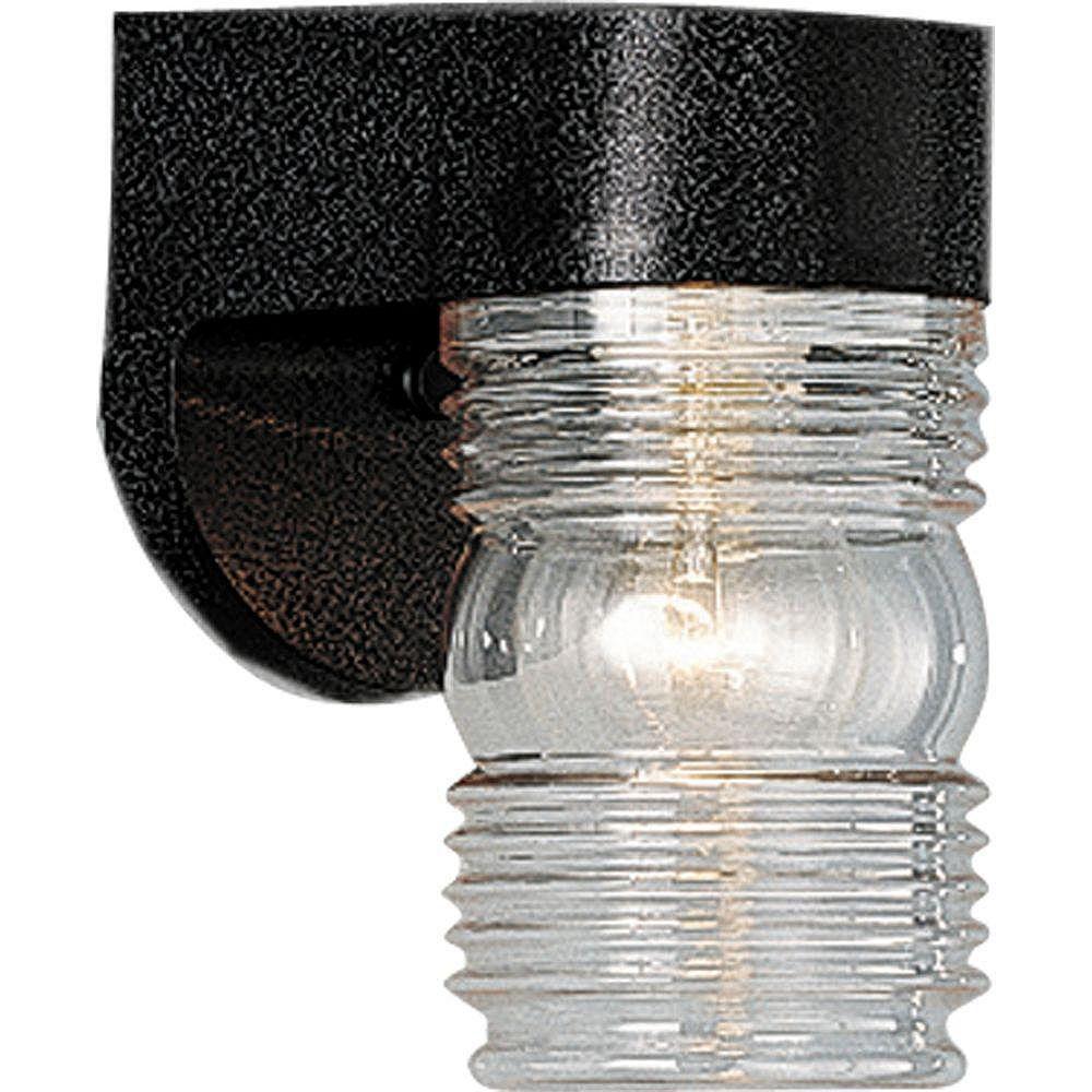 Progress Lighting Polycarbonate Collection Black 1-light Wall Lantern