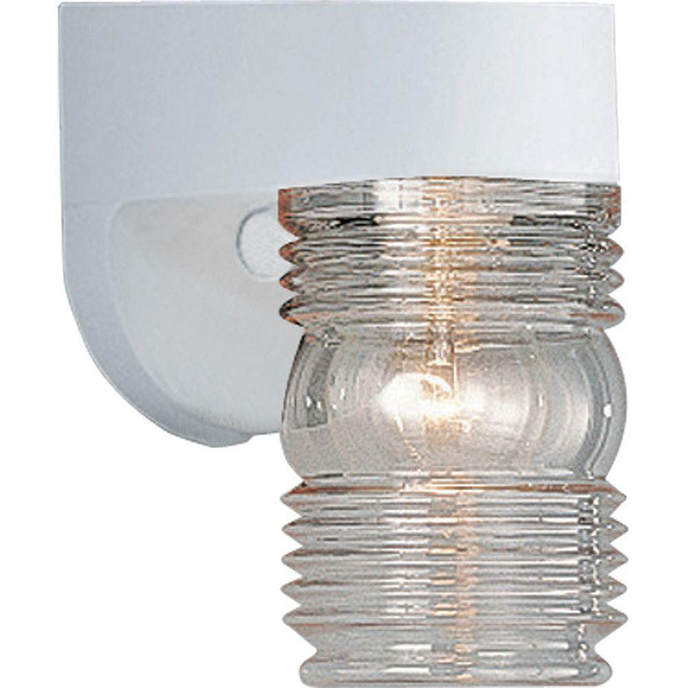 Progress Lighting Polycarbonate Collection White 1-light Wall Lantern