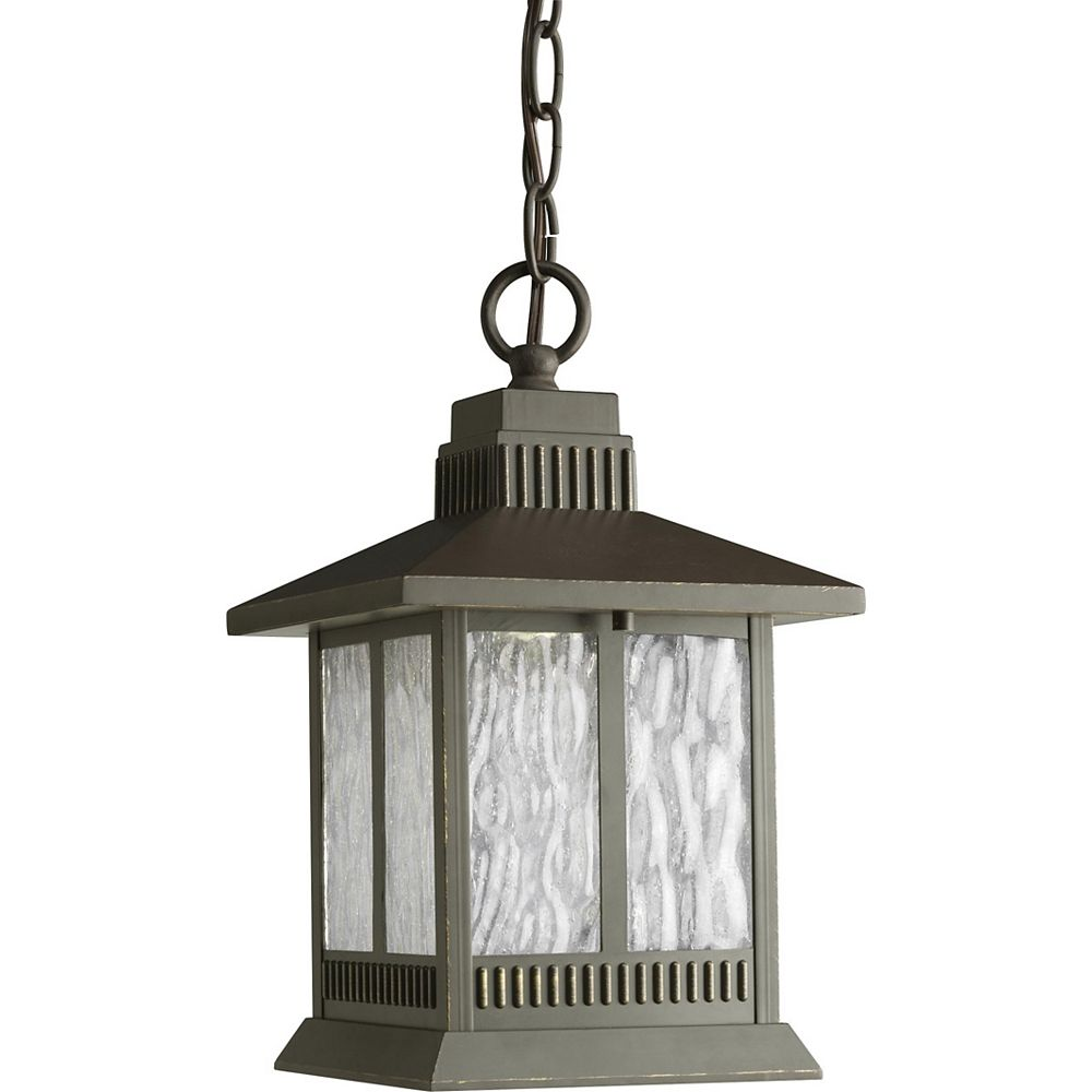 Progress Lighting Greenridge Collection Antique Bronze 1-light LED Hanging Lantern