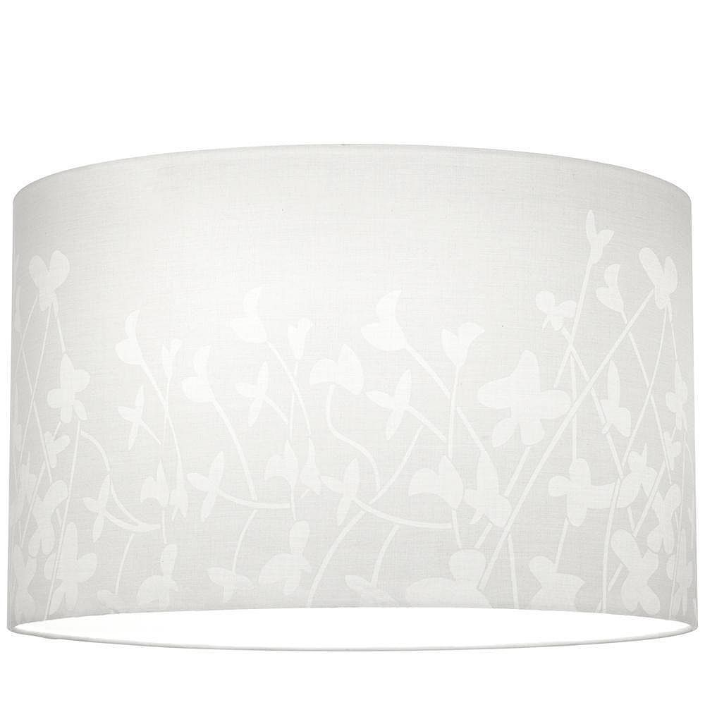 Progress Lighting Chloe Collection White Floral Pattern Accessory Shade