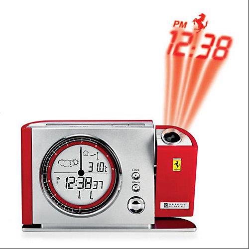 Réveil-matin Maranello contrôlé par radio avec projection et affichage de la température intérieur & extérieur