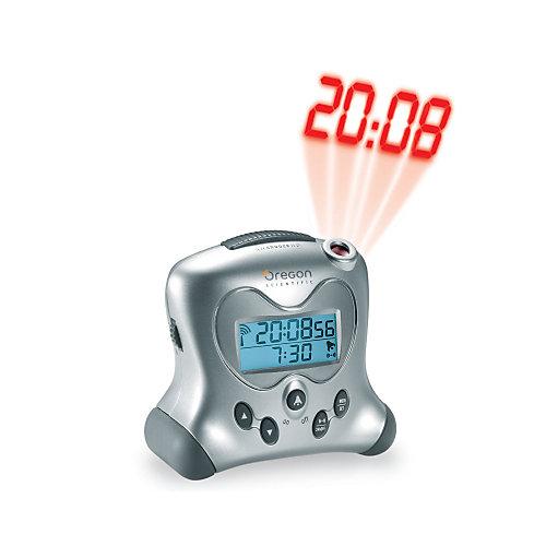 Horloge atomique à auto-ajustement avec projecteur et thermomètre d'intérieur