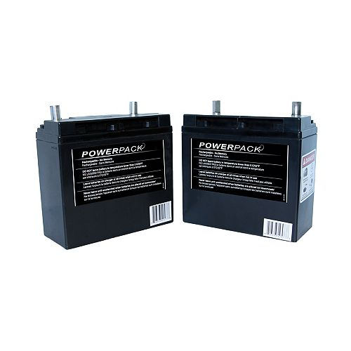 Set of 2 Powerpack batteries for Solaris Mower