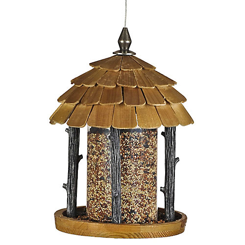2 lb Wood Gazebo Wild Bird Feeder
