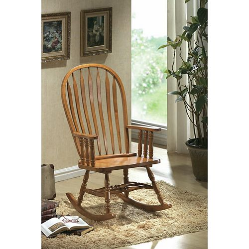 Oak Arrow Windsor Back Rocking Chair