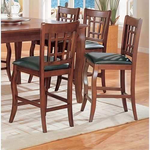 Dark Cherry 41 In. High Pub Chair (Set of 2)