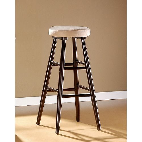 Cappuccino 29 In. High Barstool With Micro Fibre Seat