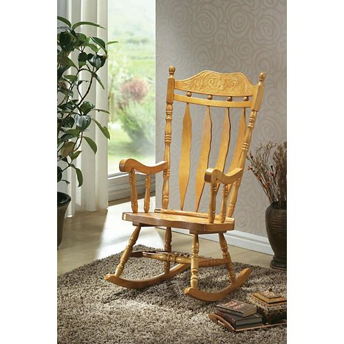 Light Oak 45 In. High Rocking Chair