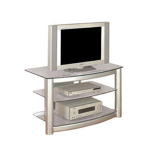 Matte Silver TV Stand