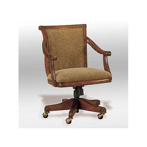Brandon Warm Cherry Castered Swivel Arm Chair, 18 Seat Height