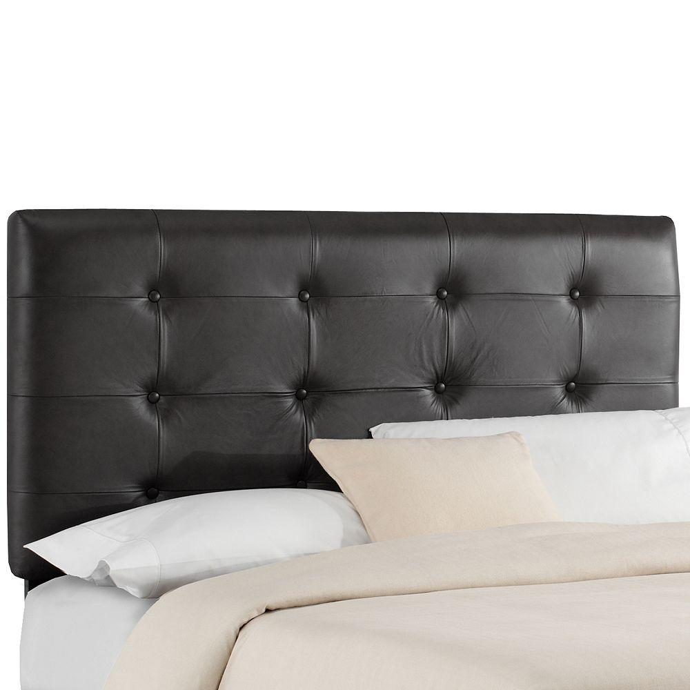 Skyline Furniture Tête de lit capitonnée taille King en cuir noir
