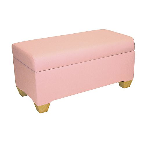 Kids Storage Bench In Duck Light Pink