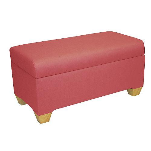 Kids Storage Bench In Duck Pink