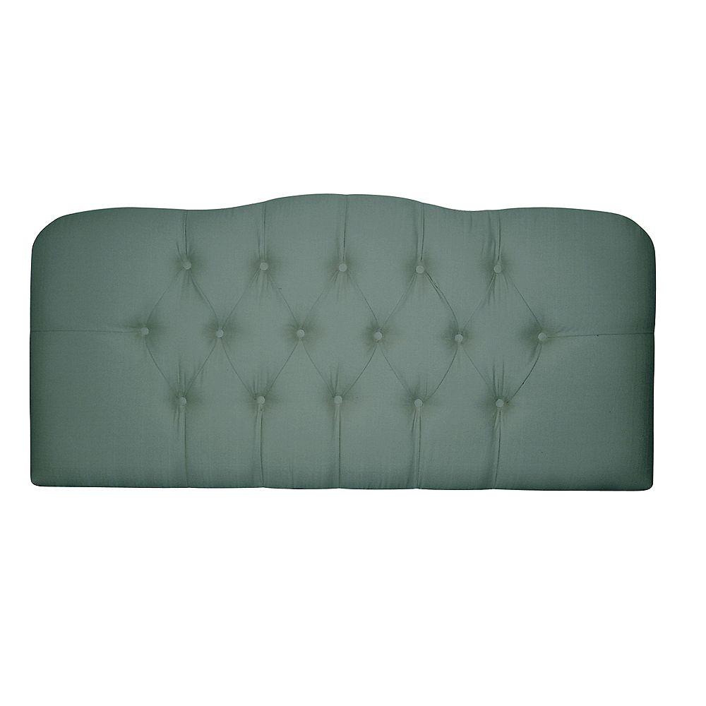 Skyline Furniture Dossier Capitonné Pour Très Grand Lit Shantung De Ton Bleu-Vert