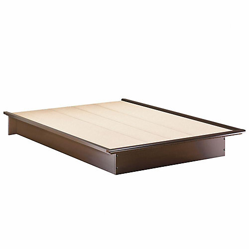 Lit Plate-Forme Queen(60'') Lux au Fini Chocolat